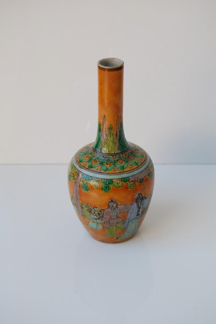 Vietnamese Famille Verte Coral Ground Vase