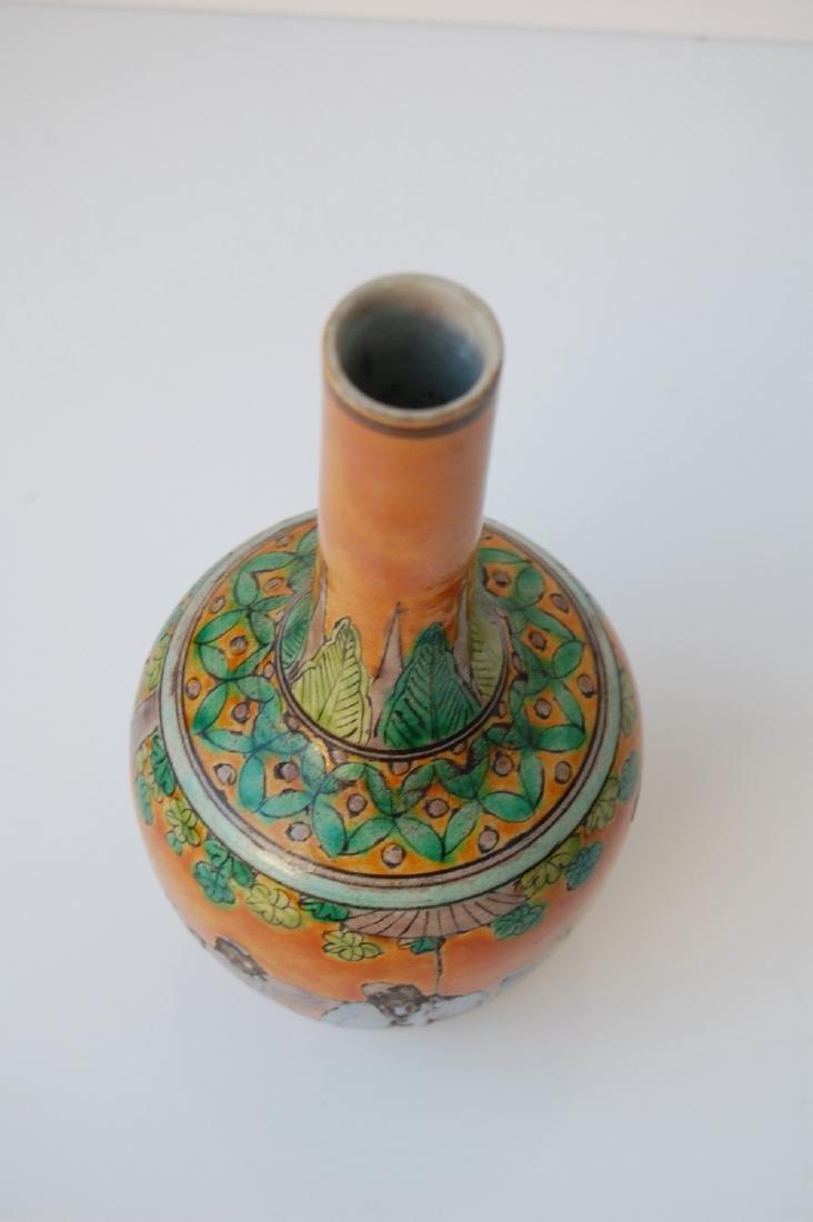 Vietnamese Famille Verte Coral Ground Vase - 2