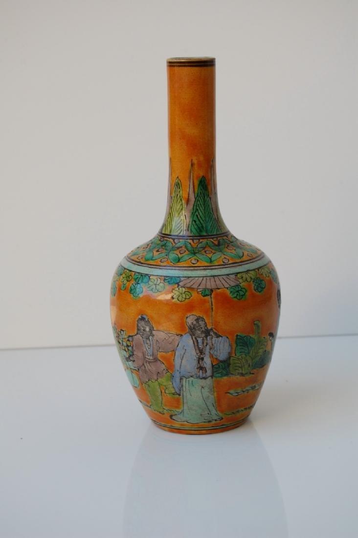 Vietnamese Famille Verte Coral Ground Vase - 3