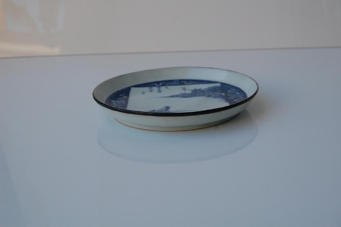 Vietnamese 18th C. Blue Underglazed Porcelain Dish - 4