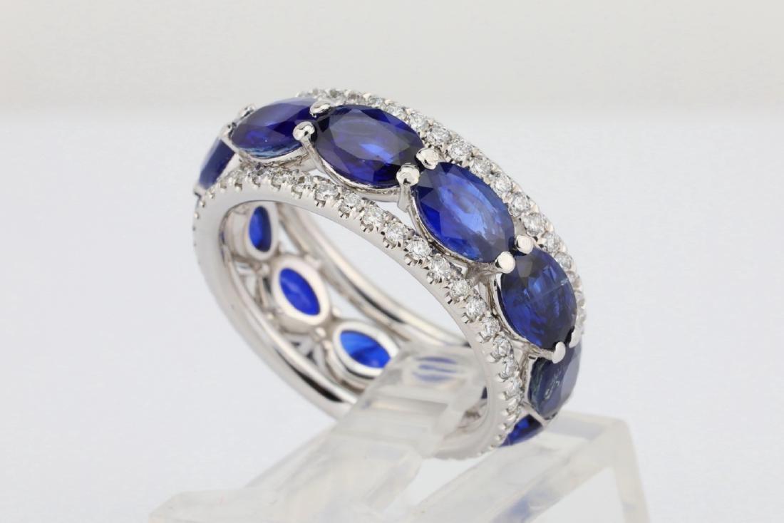 5.50ctw Blue Sapphire, 1.30ctw Diamond & 18K Ring - 3