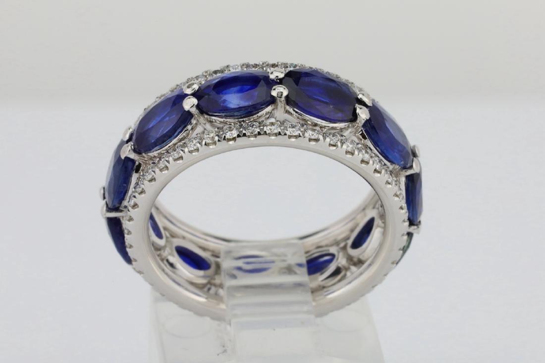 5.50ctw Blue Sapphire, 1.30ctw Diamond & 18K Ring - 5