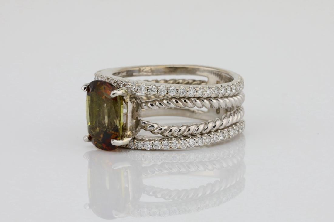Lugano 2.50ct Sunstone, 0.85ctw Diamond 18K Ring - 2