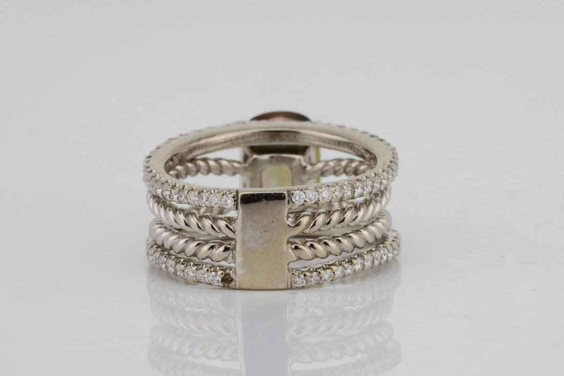 Lugano 2.50ct Sunstone, 0.85ctw Diamond 18K Ring - 4