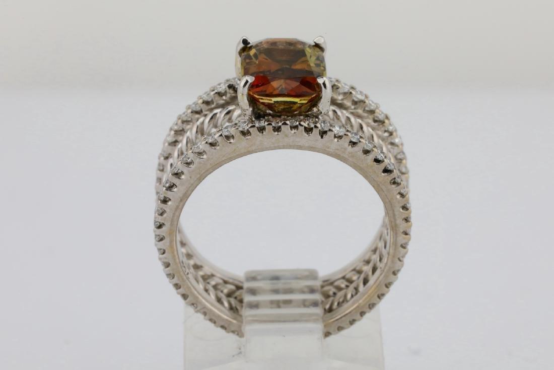 Lugano 2.50ct Sunstone, 0.85ctw Diamond 18K Ring - 5