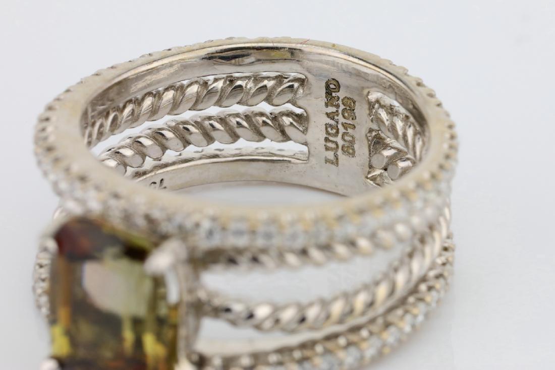 Lugano 2.50ct Sunstone, 0.85ctw Diamond 18K Ring - 6