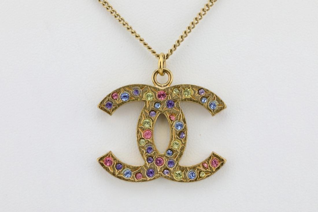 """Chanel 2006A Rhinestone CC Logo 25"""" Necklace - 2"""
