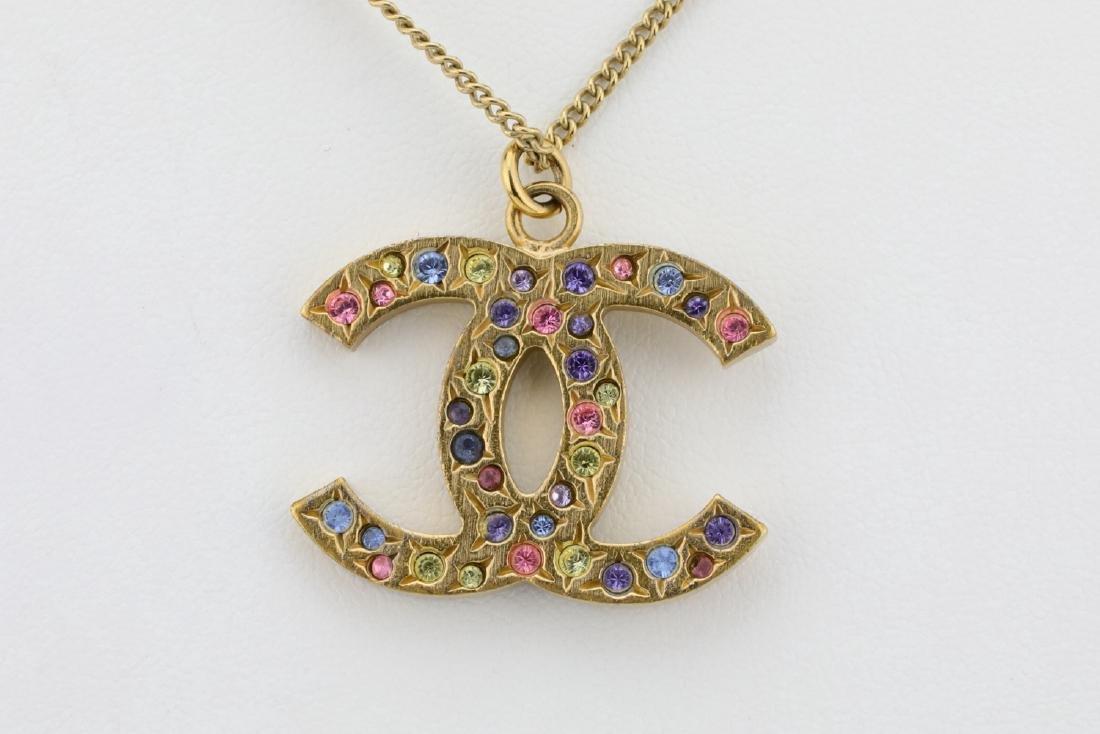 """Chanel 2006A Rhinestone CC Logo 25"""" Necklace - 3"""