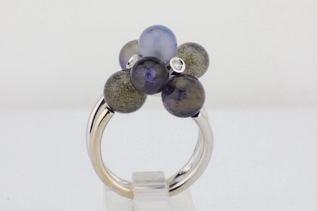 Lugano 8.50ctw Multi-Gemstone 18K Ring W/Diamonds - 5