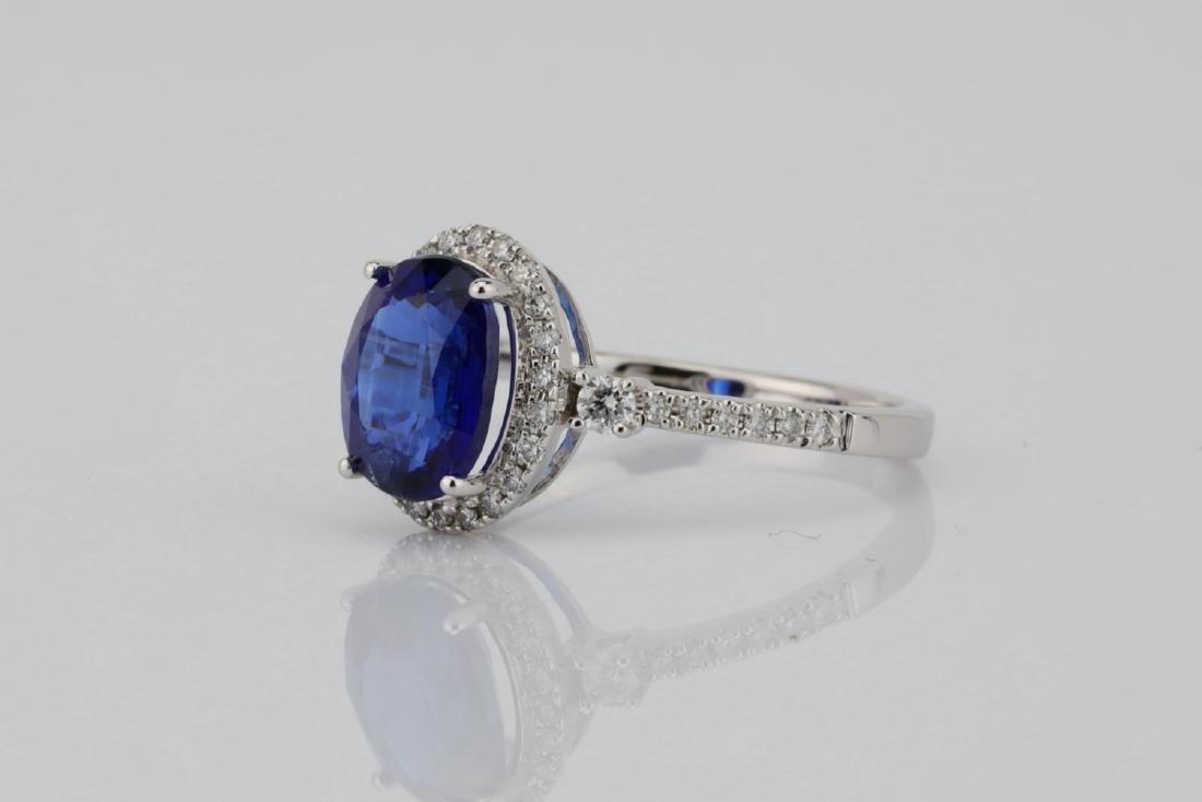 2.55ct Blue Kyanite, 0.30ctw Diamond & 14K Ring - 2