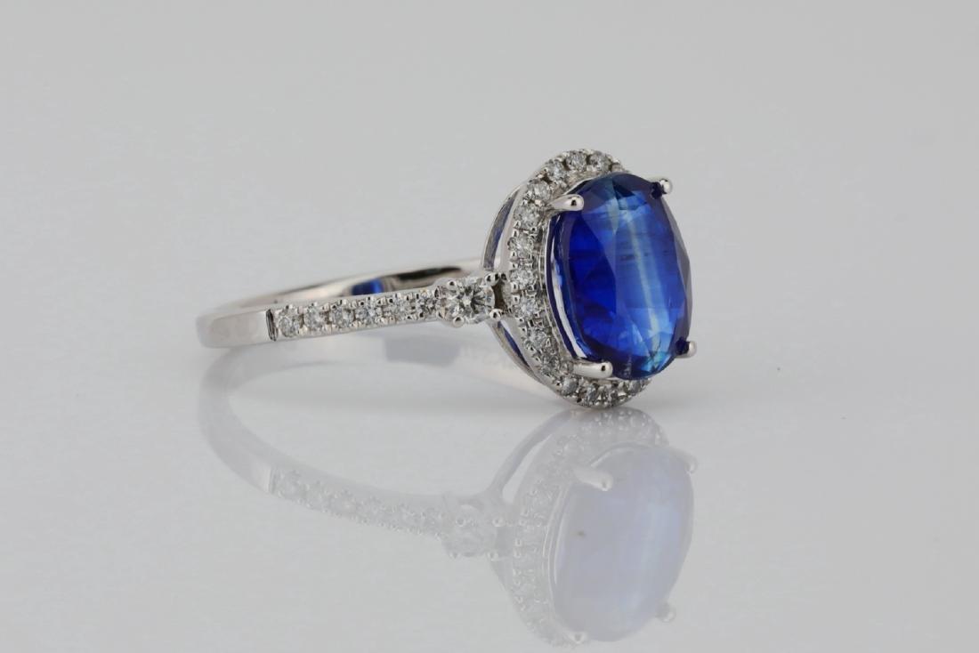 2.55ct Blue Kyanite, 0.30ctw Diamond & 14K Ring - 3
