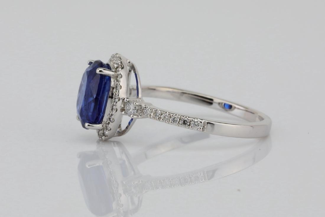 2.55ct Blue Kyanite, 0.30ctw Diamond & 14K Ring - 4