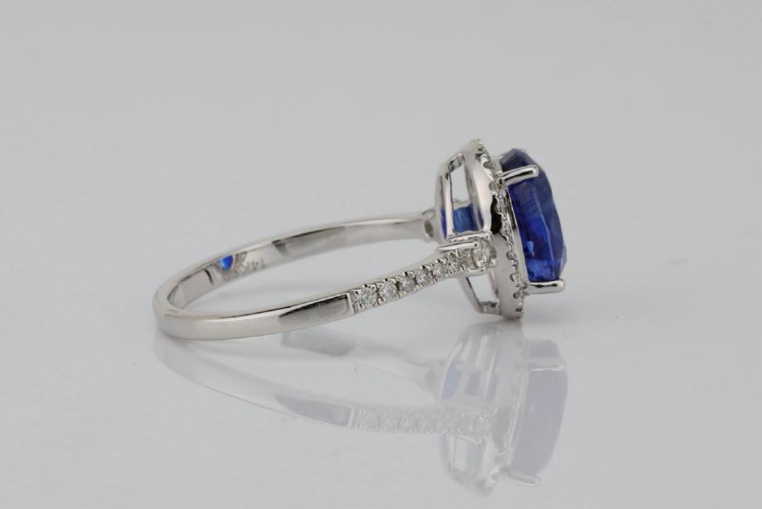 2.55ct Blue Kyanite, 0.30ctw Diamond & 14K Ring - 5