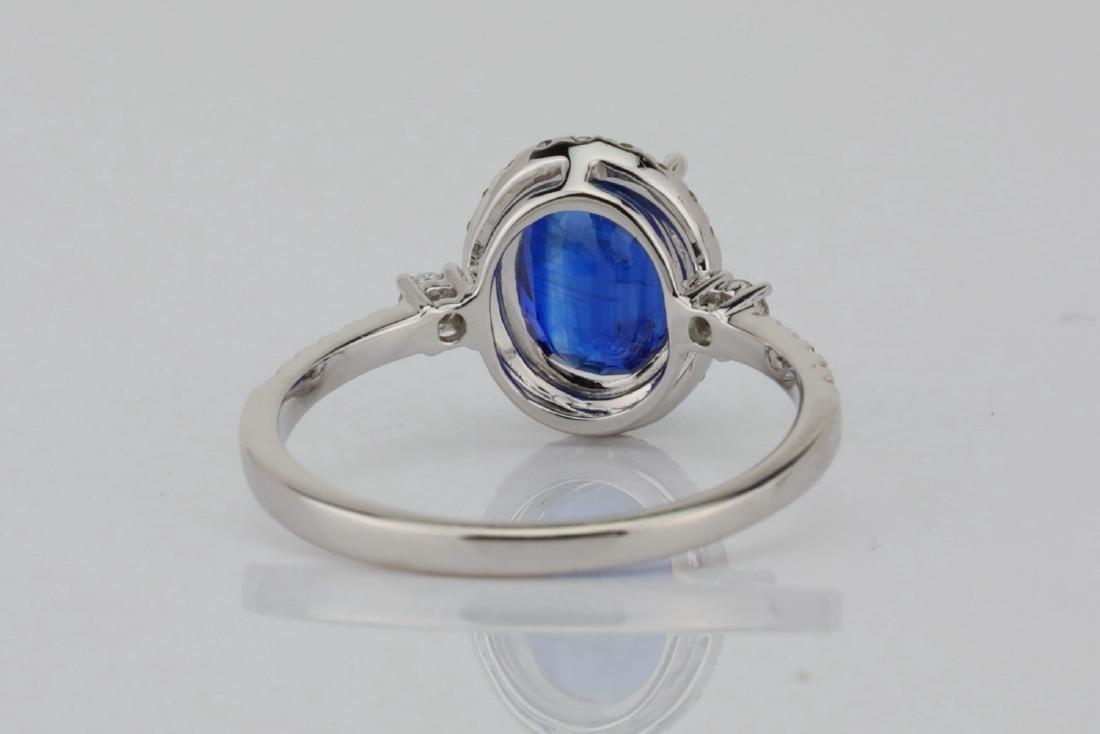 2.55ct Blue Kyanite, 0.30ctw Diamond & 14K Ring - 6
