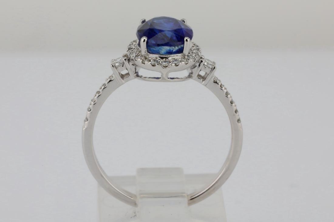 2.55ct Blue Kyanite, 0.30ctw Diamond & 14K Ring - 7