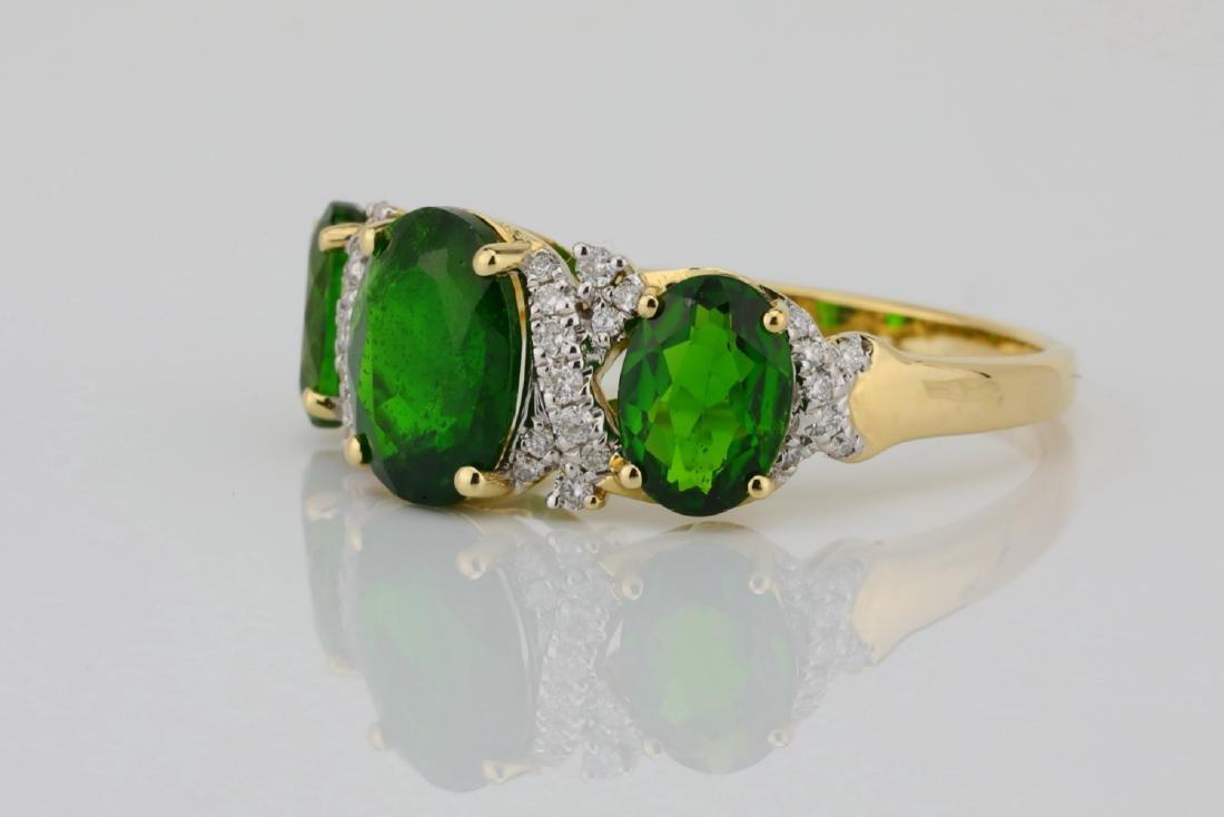 3.75ctw Chrome Diopside & 14K Ring W/Diamonds - 2