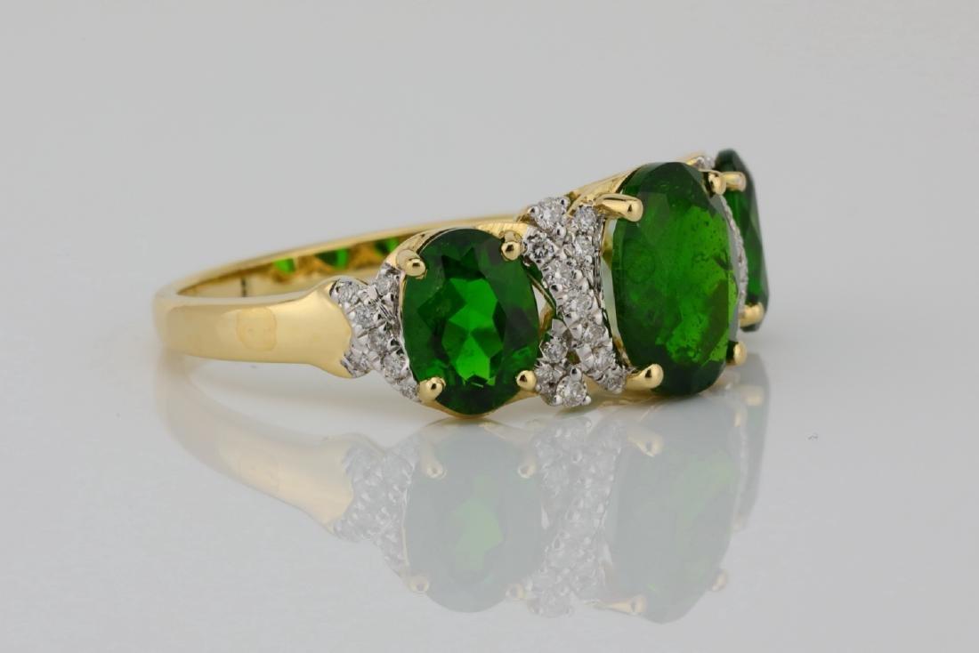 3.75ctw Chrome Diopside & 14K Ring W/Diamonds - 3