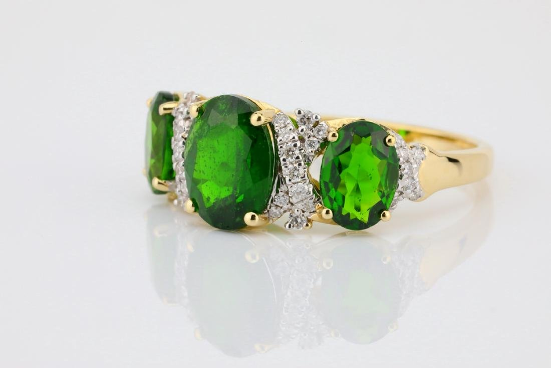 3.75ctw Chrome Diopside & 14K Ring W/Diamonds - 4