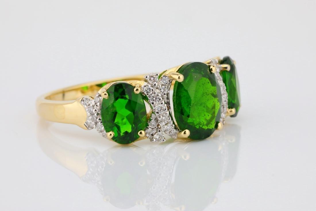 3.75ctw Chrome Diopside & 14K Ring W/Diamonds - 5