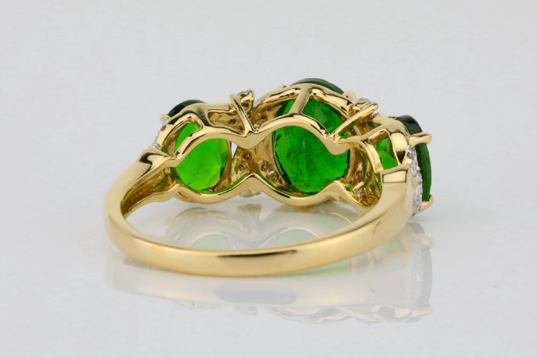 3.75ctw Chrome Diopside & 14K Ring W/Diamonds - 6