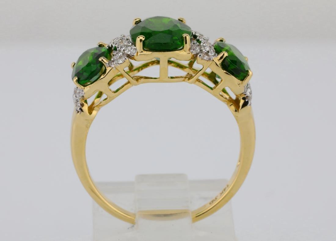 3.75ctw Chrome Diopside & 14K Ring W/Diamonds - 7