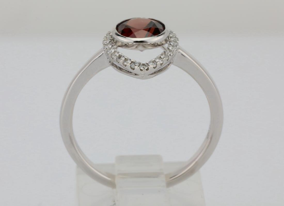 1.25ct Red Zircon & 14K Ring W/0.15ctw Diamonds - 5