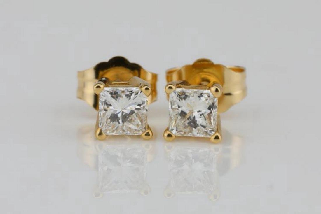 EGL 0.50ctw SI1-SI2/F-G Diamond 14K Earrings