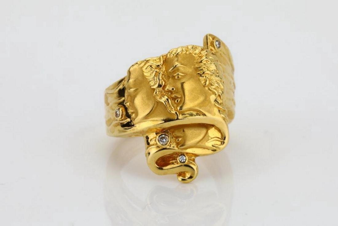 Carrera y Carrera 18K Romeo & Juliet Ring