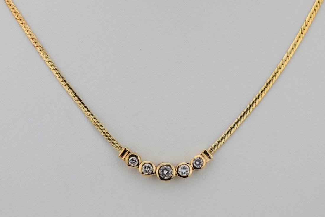 "14K & 0.70ctw SI1-SI2/G-H Diamond 16"" Necklace"