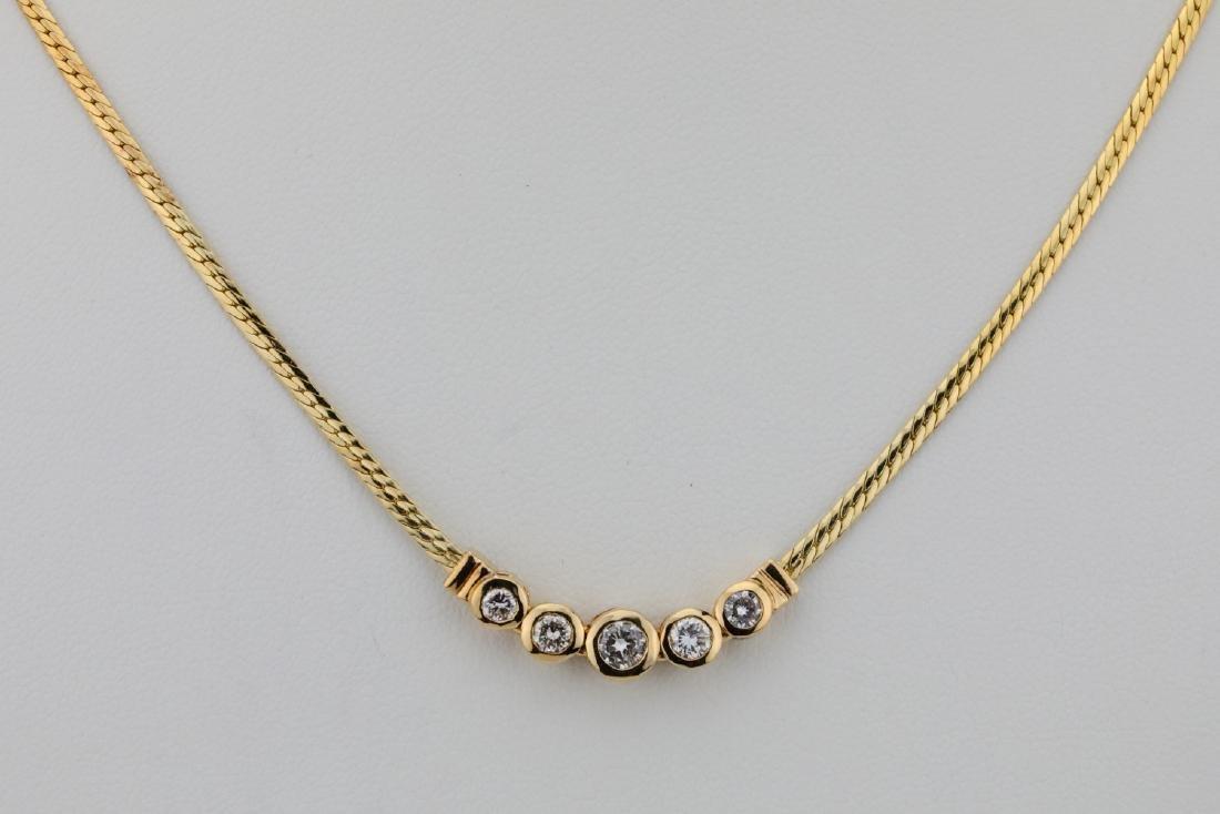 "14K & 0.70ctw SI1-SI2/G-H Diamond 16"" Necklace"