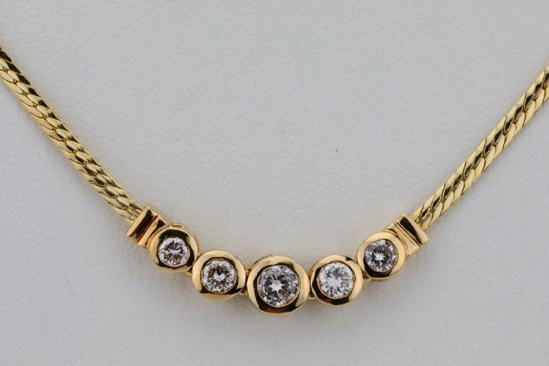 "14K & 0.70ctw SI1-SI2/G-H Diamond 16"" Necklace - 2"