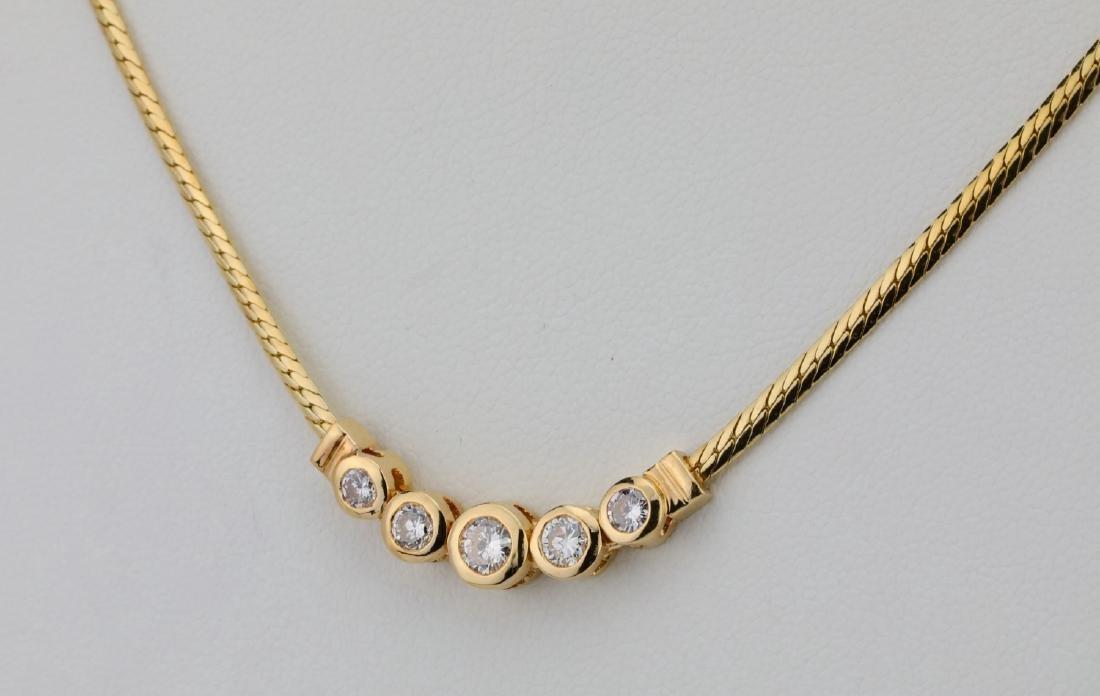 "14K & 0.70ctw SI1-SI2/G-H Diamond 16"" Necklace - 3"