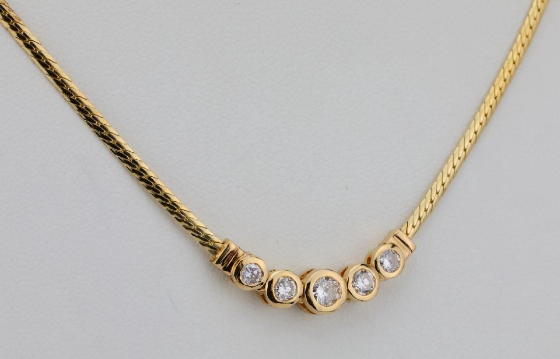 "14K & 0.70ctw SI1-SI2/G-H Diamond 16"" Necklace - 4"