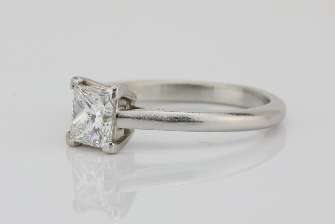 Platinum 2mm Band W/0.75ct Princess-Cut Diamond - 2