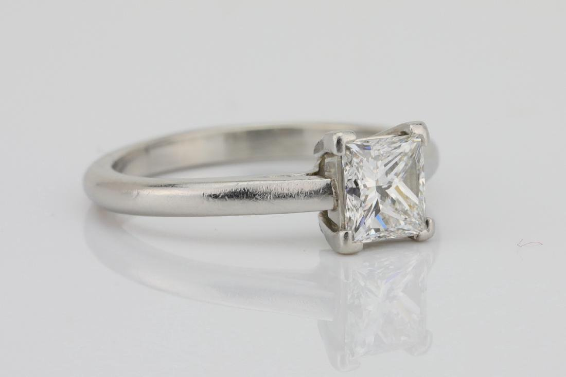 Platinum 2mm Band W/0.75ct Princess-Cut Diamond - 3