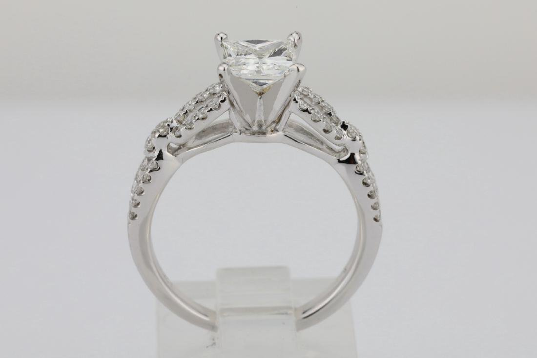 1.30ctw SI1-SI2/G-H Diamond 14K Ring W/1ct Center - 7