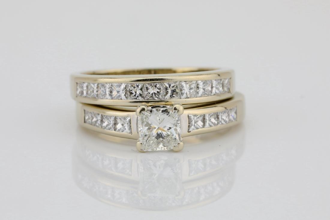 1.70ctw SI1-SI2/G-H Diamond & 14K Ring/Band Set