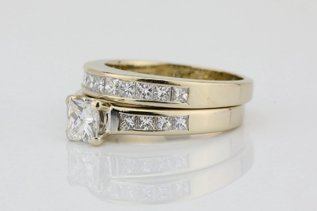 1.70ctw SI1-SI2/G-H Diamond & 14K Ring/Band Set - 2