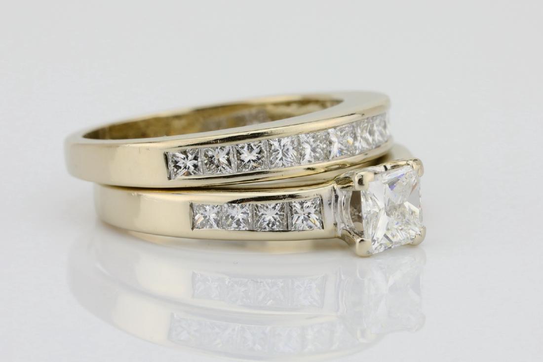 1.70ctw SI1-SI2/G-H Diamond & 14K Ring/Band Set - 3