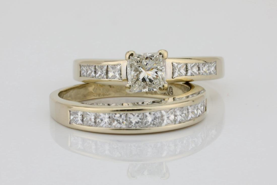 1.70ctw SI1-SI2/G-H Diamond & 14K Ring/Band Set - 4