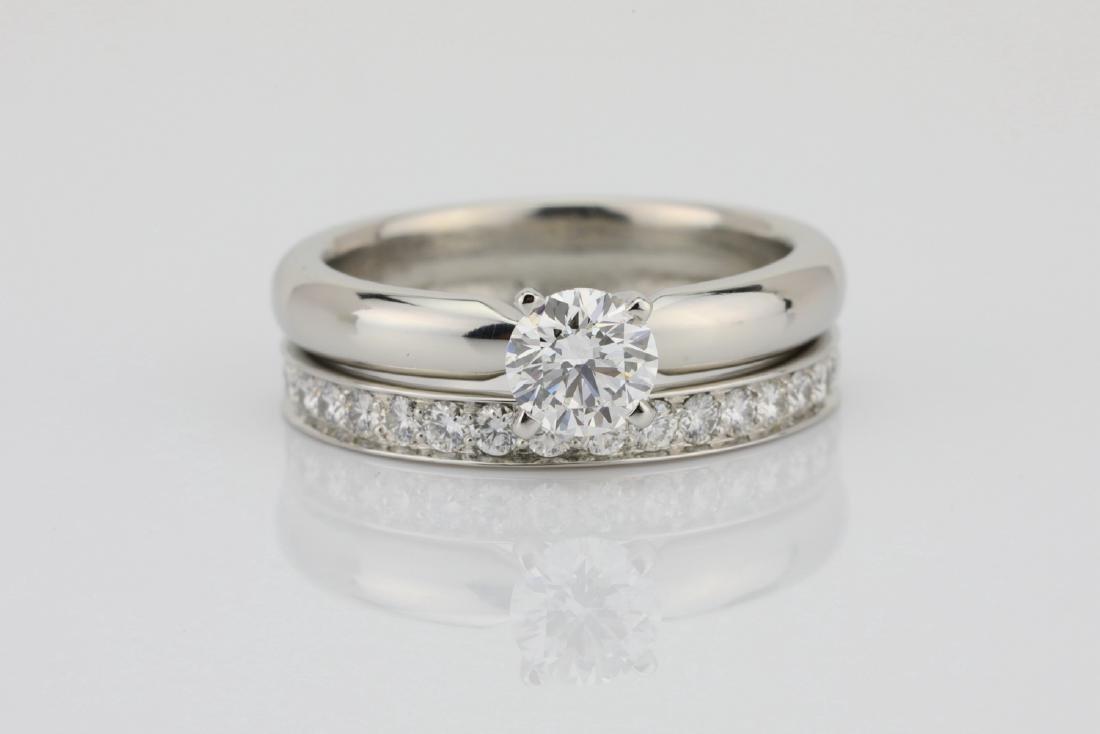 1.00ctw VS2-SI1/G-H Diamond & Solid Platinum Ring