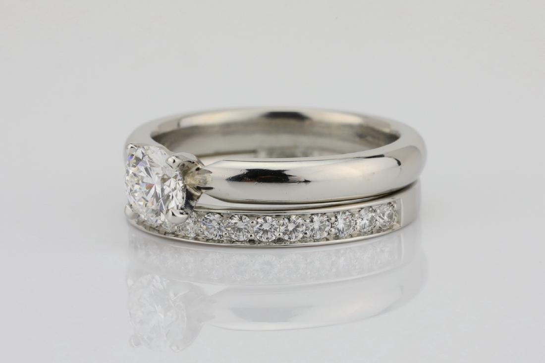 1.00ctw VS2-SI1/G-H Diamond & Solid Platinum Ring - 2