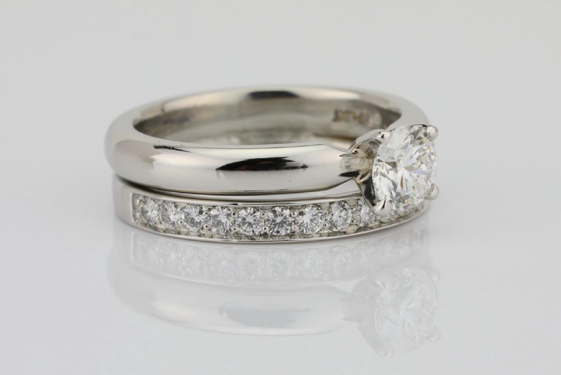 1.00ctw VS2-SI1/G-H Diamond & Solid Platinum Ring - 3