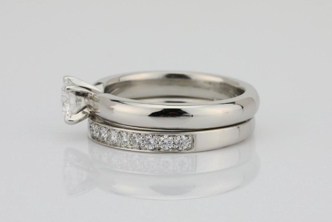 1.00ctw VS2-SI1/G-H Diamond & Solid Platinum Ring - 4
