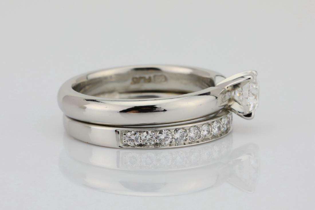 1.00ctw VS2-SI1/G-H Diamond & Solid Platinum Ring - 5