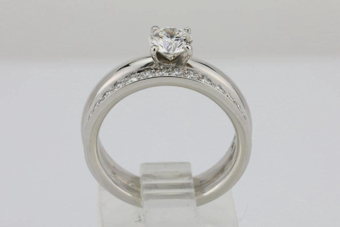 1.00ctw VS2-SI1/G-H Diamond & Solid Platinum Ring - 6