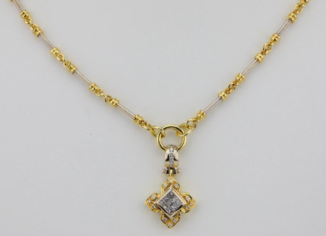 """1.00ctw VS1-VS2/G-H Diamond & 18K 20"""" Necklace"""