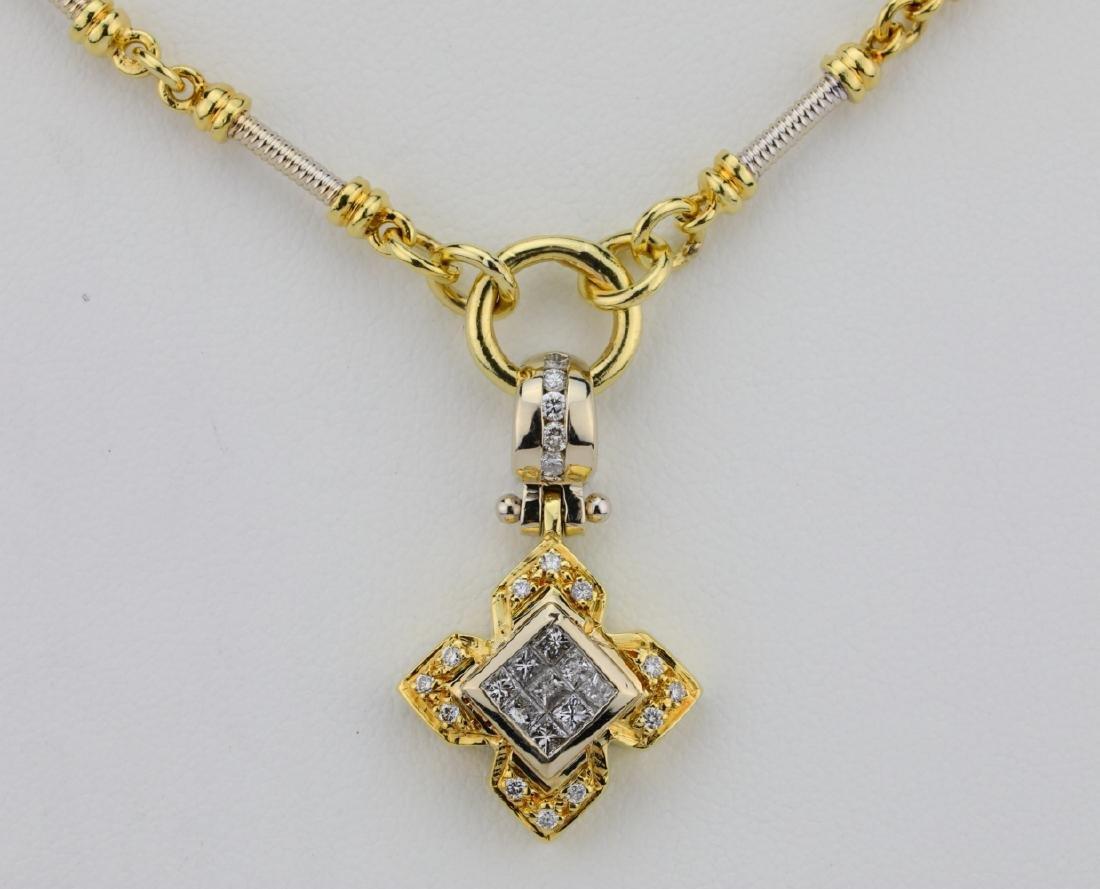 """1.00ctw VS1-VS2/G-H Diamond & 18K 20"""" Necklace - 2"""