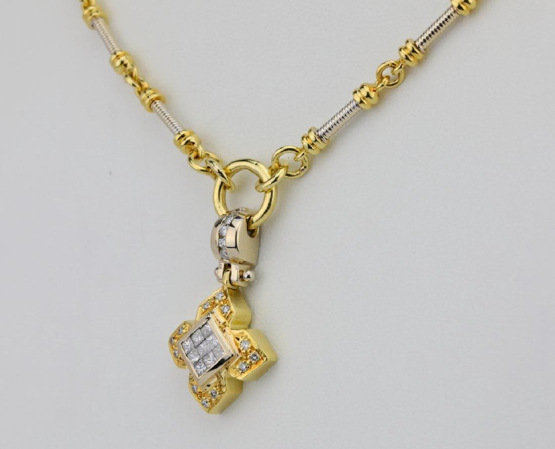 """1.00ctw VS1-VS2/G-H Diamond & 18K 20"""" Necklace - 3"""