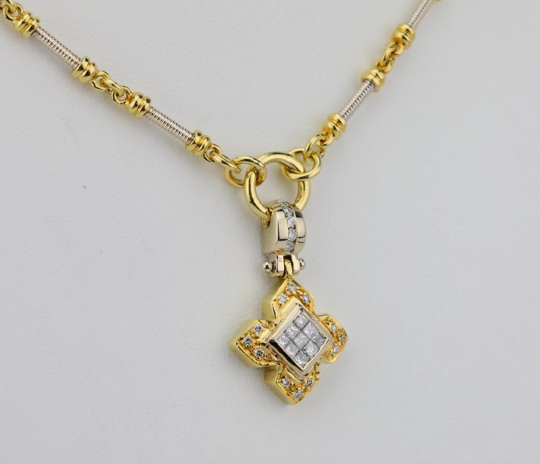 """1.00ctw VS1-VS2/G-H Diamond & 18K 20"""" Necklace - 4"""
